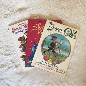 Vintage 70's children's Disney story books
